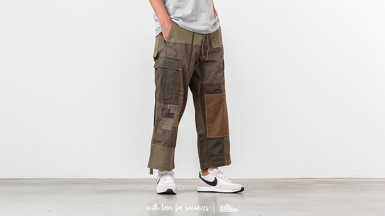 maharishi Boro Cropped Cargo Trackpants