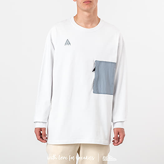 promo code affordable price clearance prices Nike ACG Longsleeve Top Summit White/ Aviator Grey ...