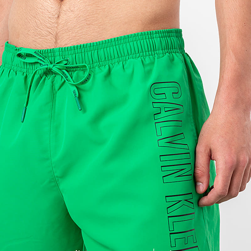 Calvin Klein Medium Drawstring Swim Shorts Green