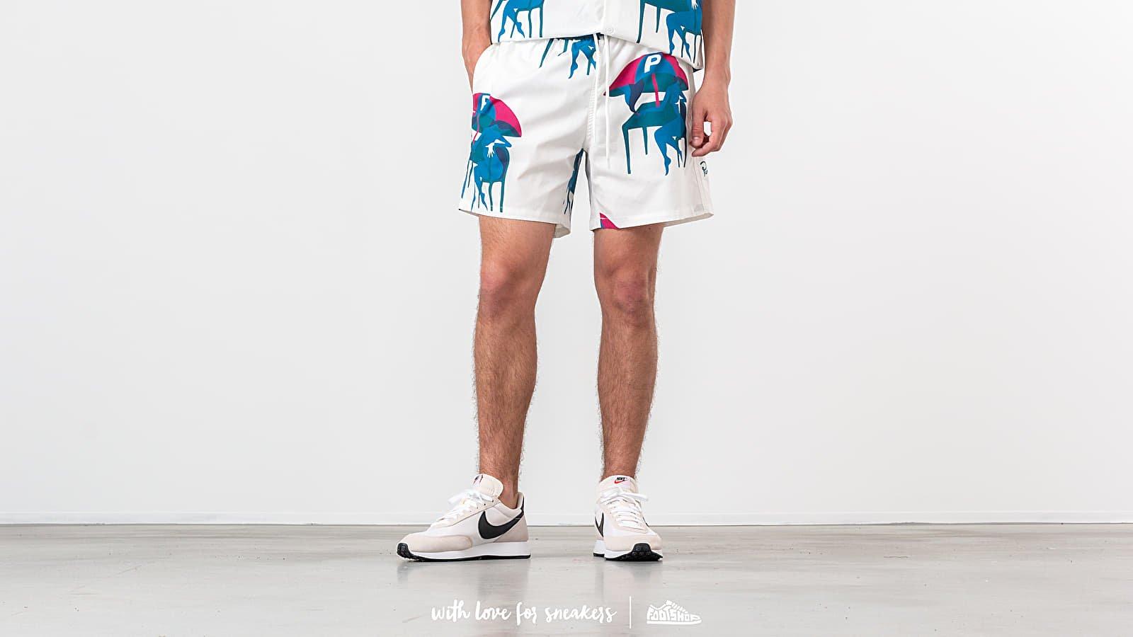 Šortky by Parra Summer Monaco Swim Shorts Off White