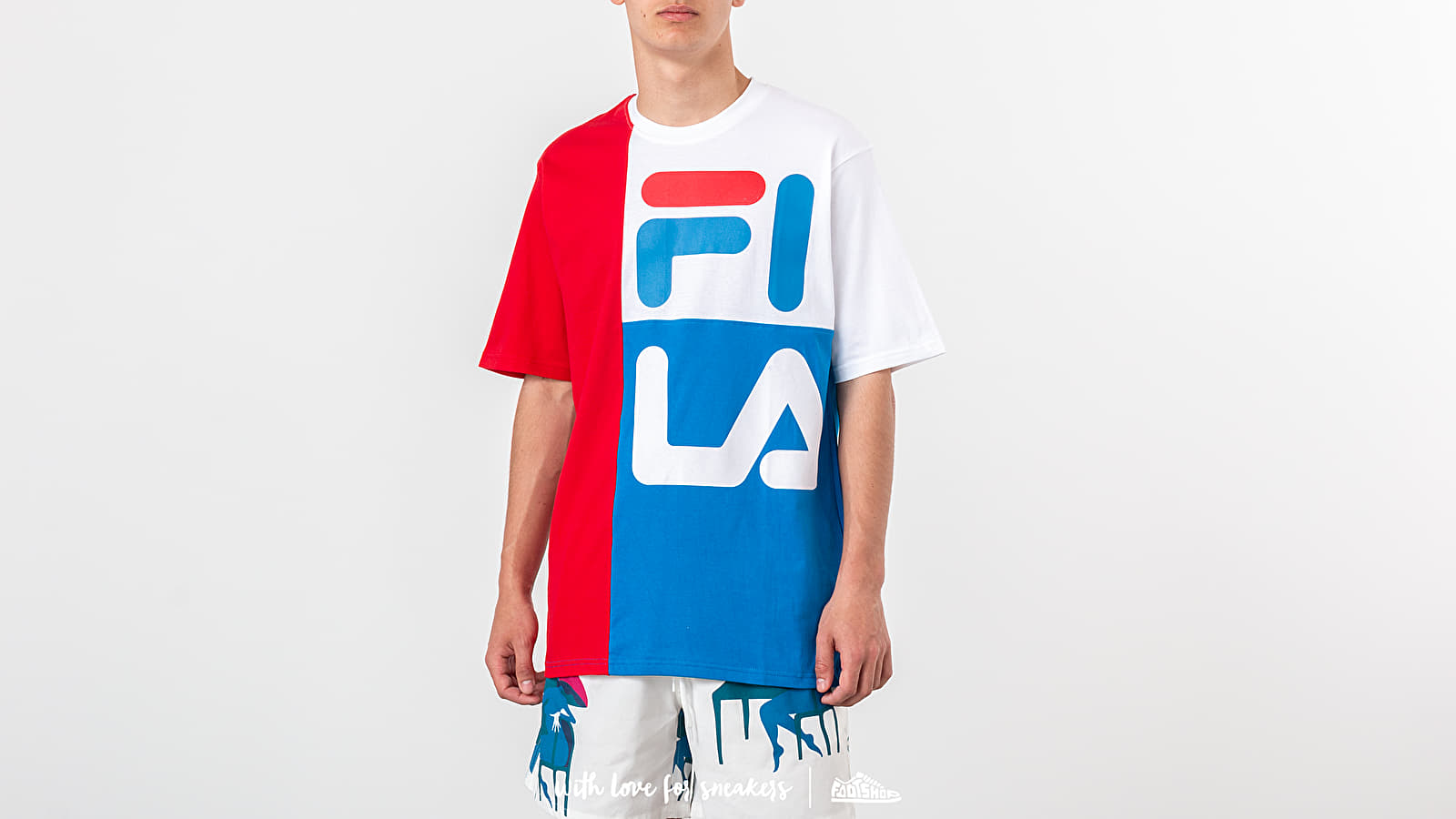 FILA Indo Colour Block Fit Tee Chinese Red