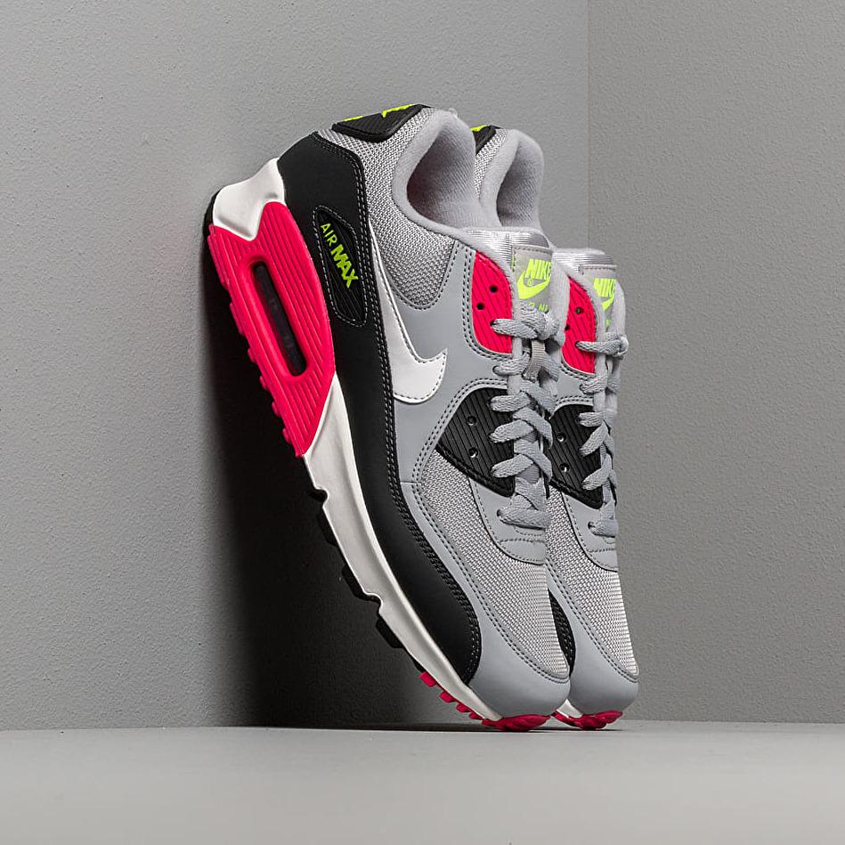 Nike Air Max 90 Essential Wolf Grey/ White-Rush Pink-Volt EUR 42