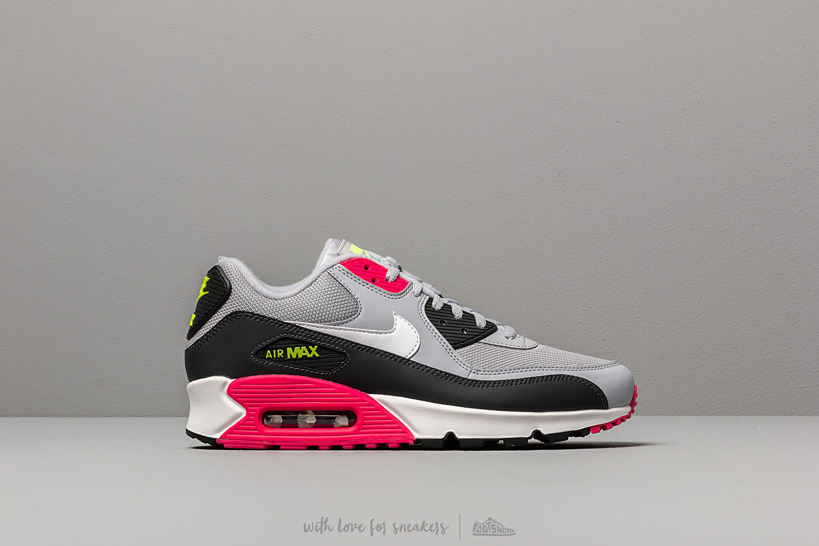 size 40 cdd19 a294a Nike Air Max 90 Essential Wolf Grey/ White-Rush Pink-Volt ...