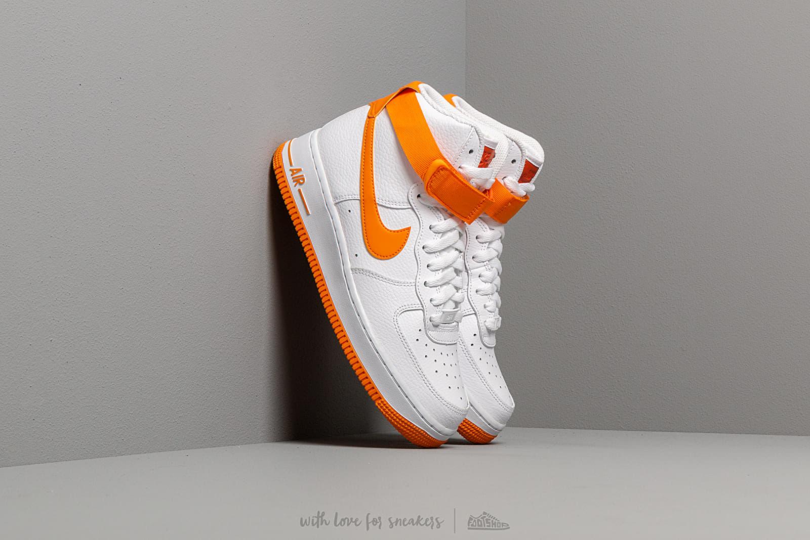 Nike Wmns Air Force 1 High White/ Orange Peel-Campfire Orange | Footshop
