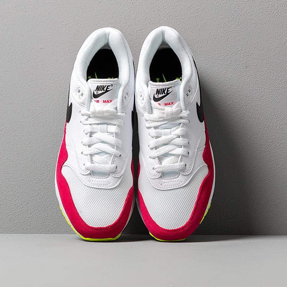 Nike Air Max 1 White/ Black-Volt-Rush Pink