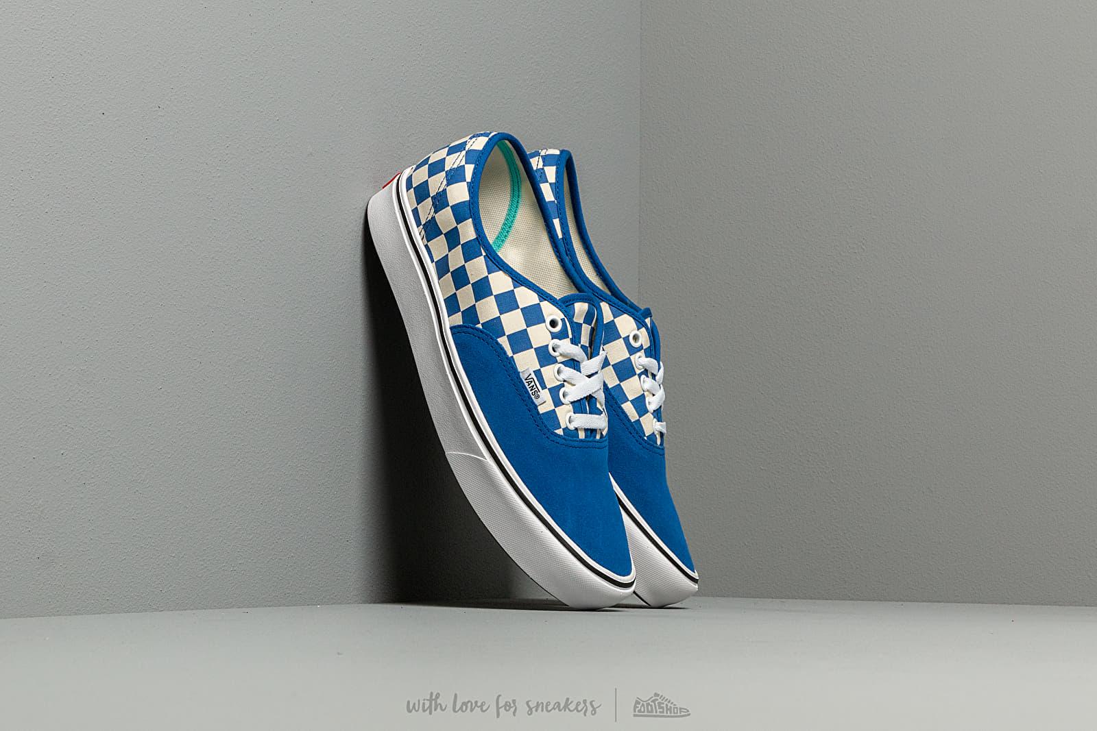 Vans ComfyCush Authentic (Checker) Lapis Blue True White | Footshop