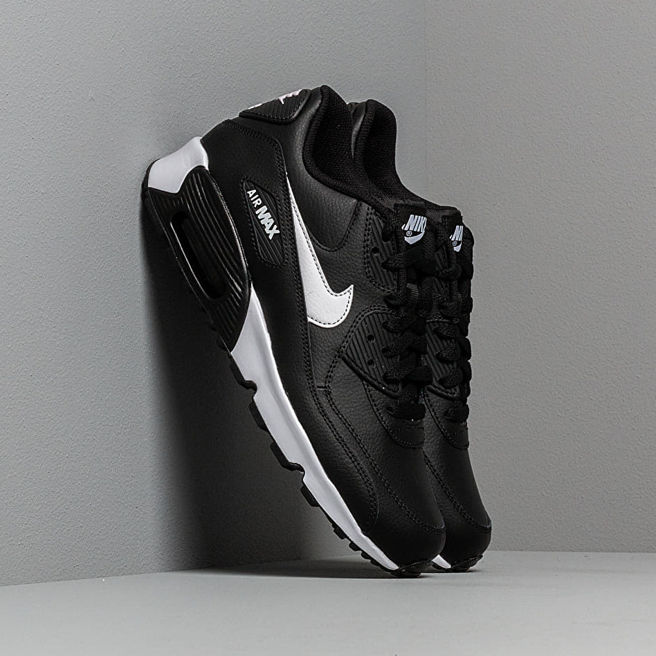 Nike Air Max 90 Leather (GS) Black/ White-Anthracite EUR 39