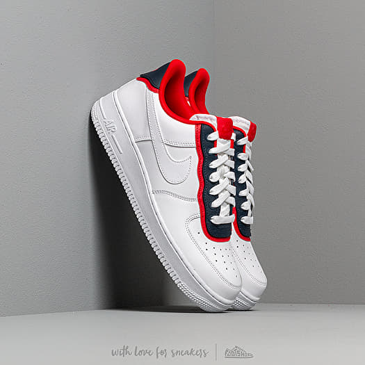 Nike Air Force 1 '07 LV8 1 (White Red Obsidian)