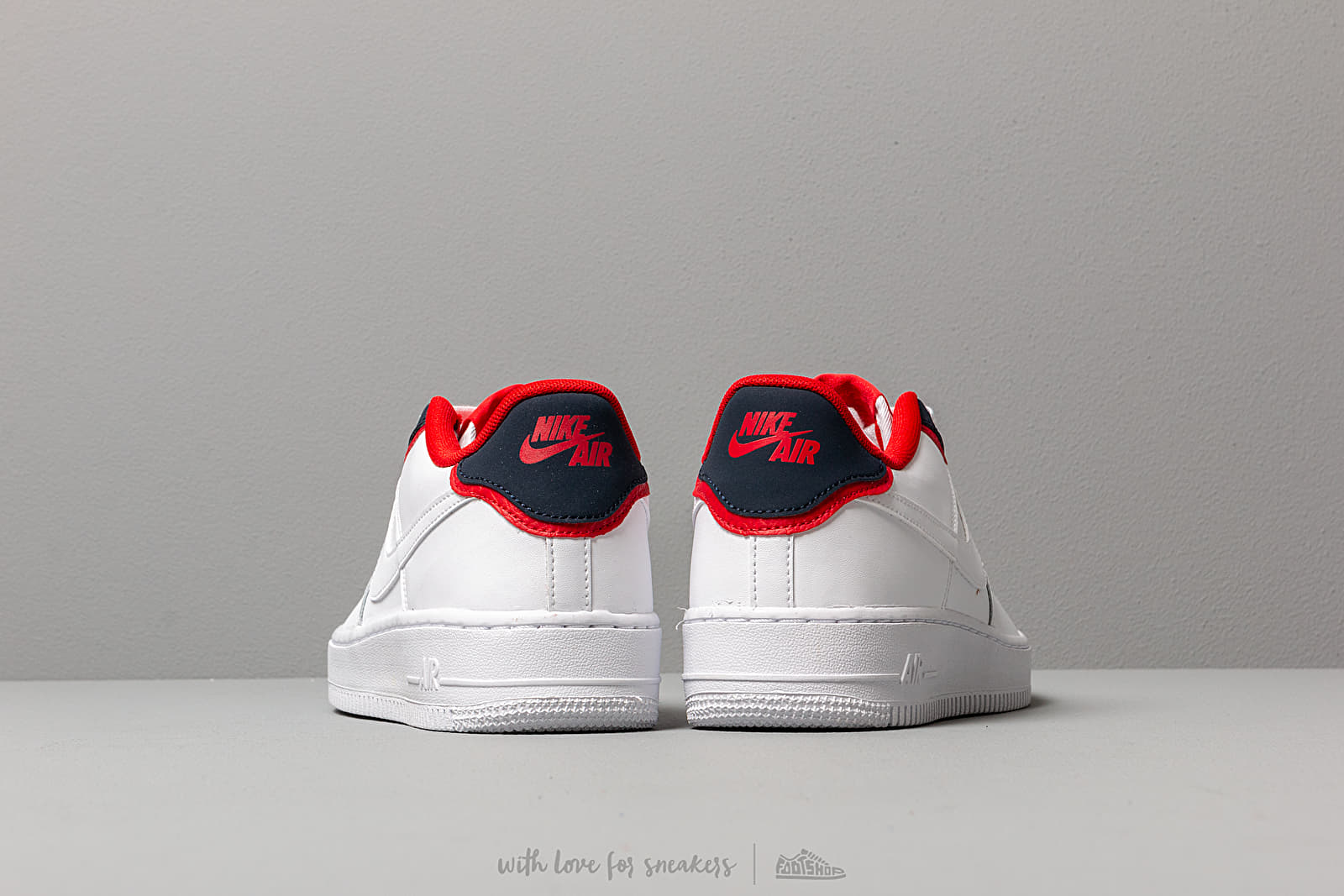 Nike Air Force 1 Lv8 1 Dbl Gs White White Obsidian University Red | Footshop