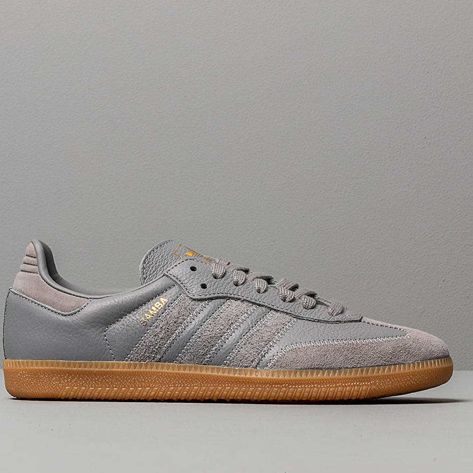 adidas Samba OG Ft Grey Three/ Grey Three/ Gold Metalic ...