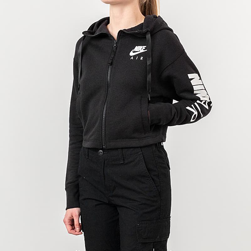 Nike Sportswear Air Fleece Fullzip Hoodie Black/ White