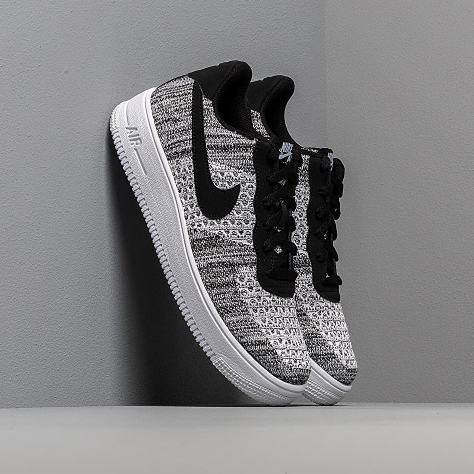 Nike Air Force 1 Flyknit 2.0 (GS) Black/ Pure Platinum-White-White EUR 40