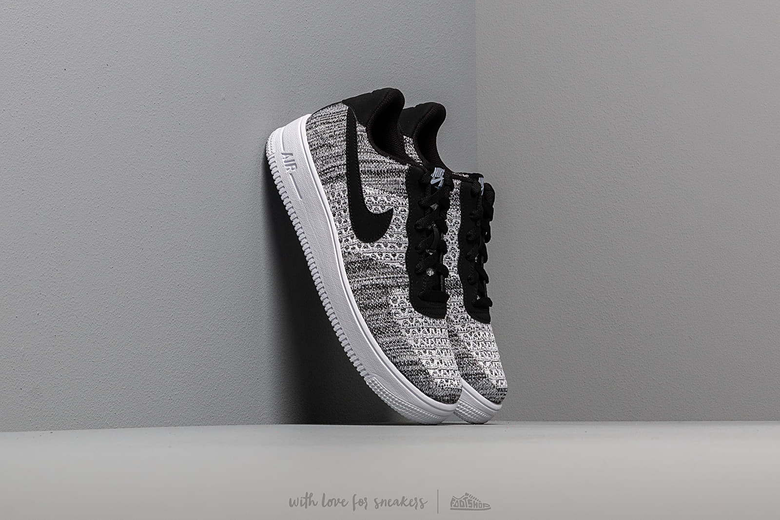 lowest price 7657d 34402 Nike Air Force 1 Flyknit 2.0 (GS) Black  Pure Platinum-White-