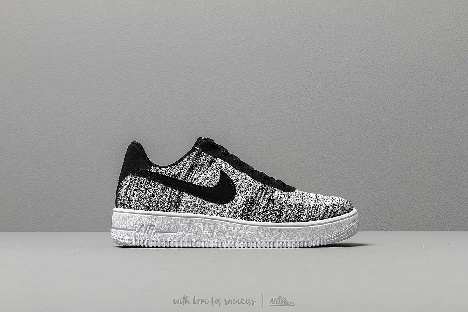 Nike Air Force 1 Flyknit 2.0 (GS) Black Pure Platinum White