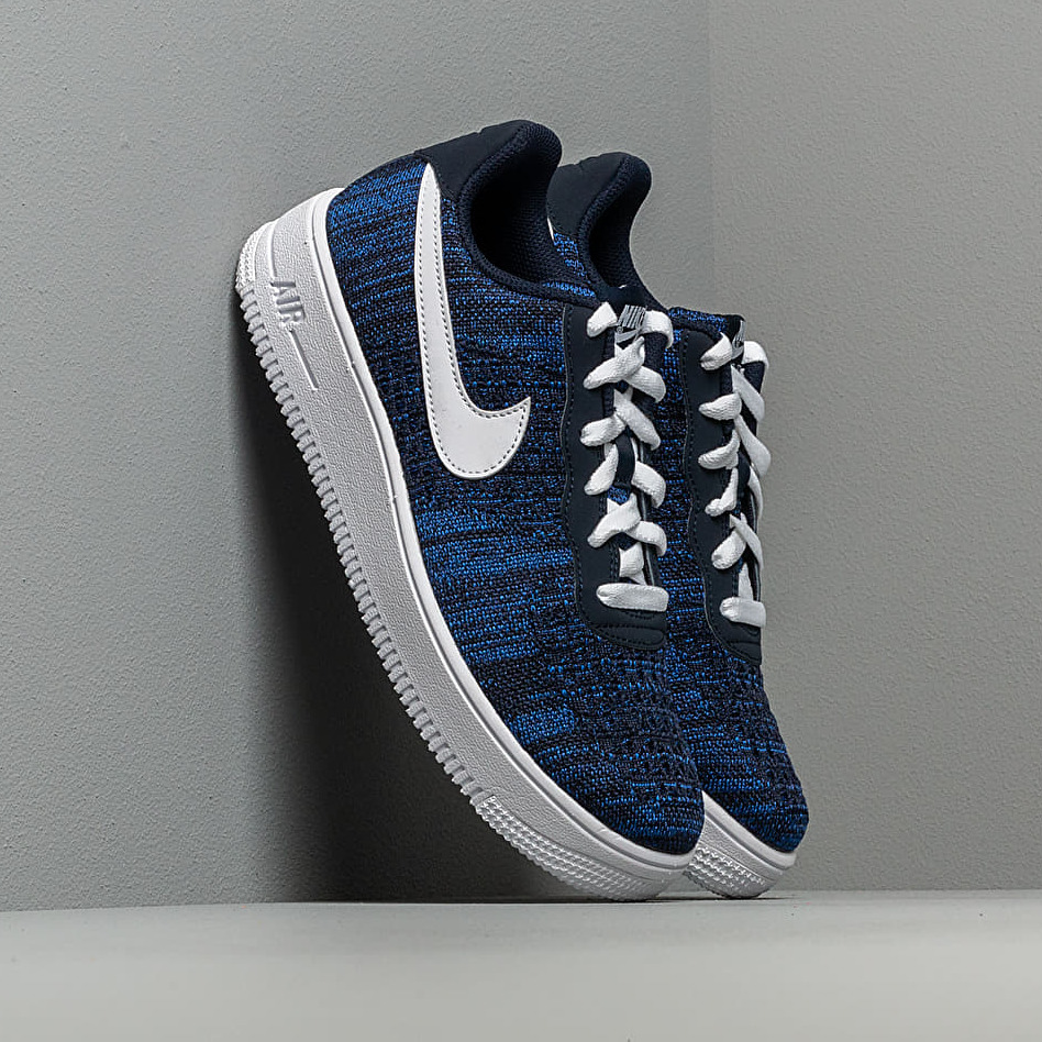 Nike Air Force 1 Flyknit 20 GS College Navy WhiteObsidian