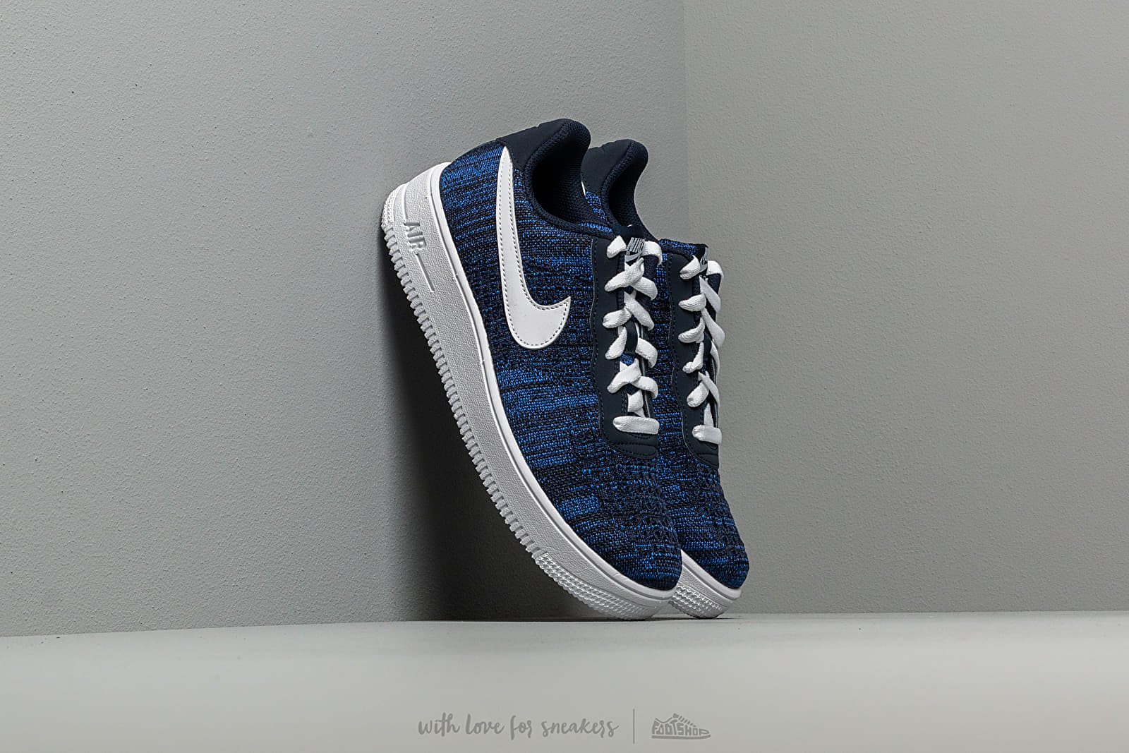 Nike Air Force 1 Flyknit 2.0 (GS) College Navy/ White-Obsidian ...