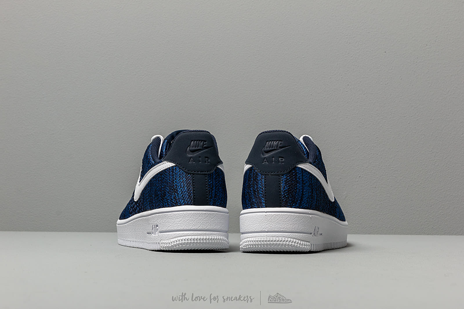 Nike Air Force 1 Flyknit 2.0 (GS) College Navy White Obsidian | Footshop