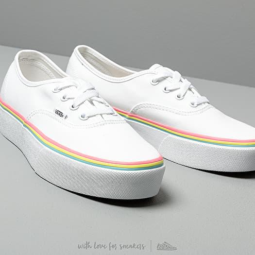 vans authentic platform rainbow