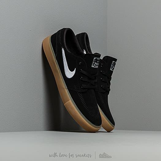 Nike SB Zoom Janoski RM Skateboard Shoe BlackWhite Black Gum Light Brown