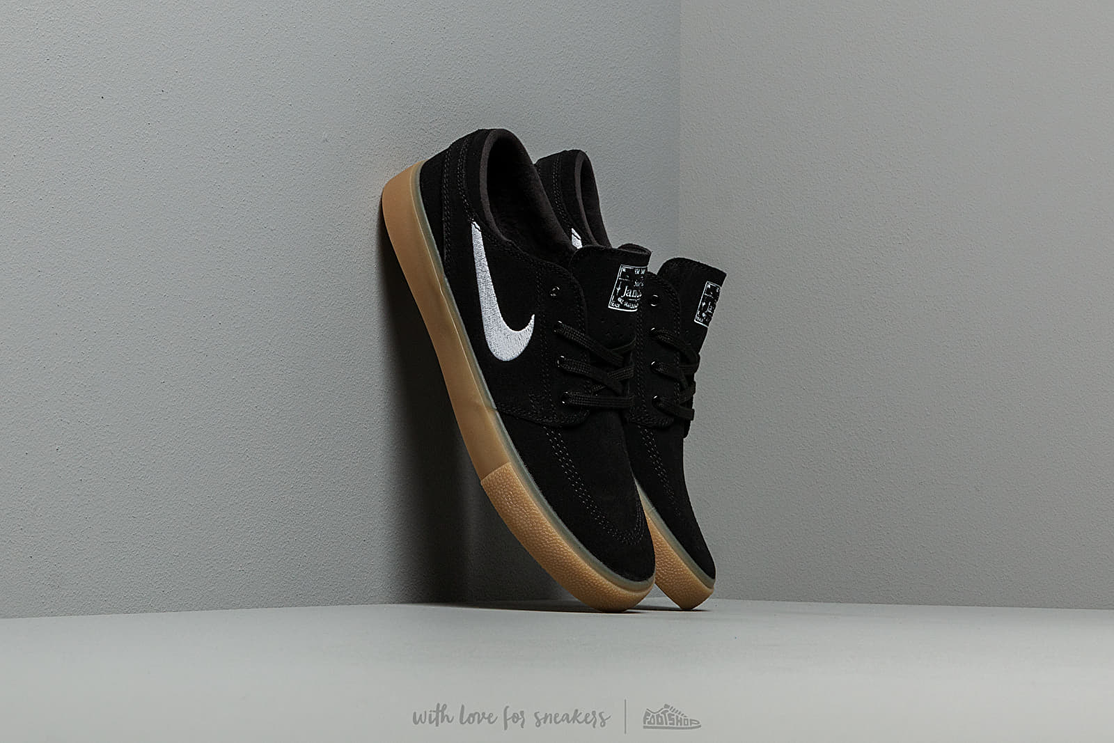 Férfi cipők Nike Sb Zoom Janoski Rm Black/ White-Black-Gum Light Brown