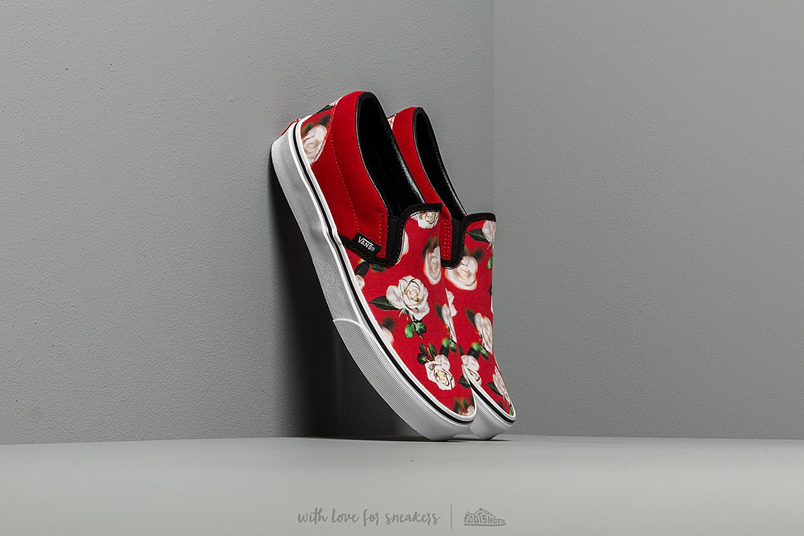 Vans Classic Slip On (Romantic Floral) Chili Pepper | Footshop