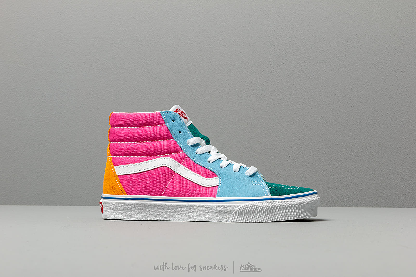 Vans SK8 Hi (Suede Canvas) Multi Bright | Footshop