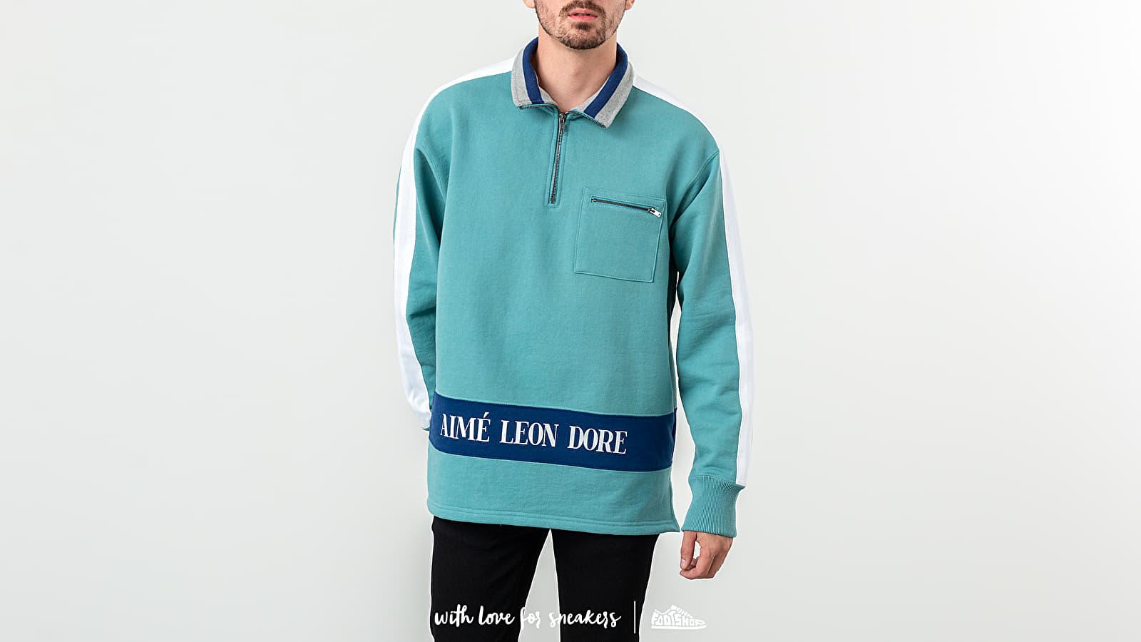 Aimé Leon Dore Ribbed Collar Quarter Zip Pullover