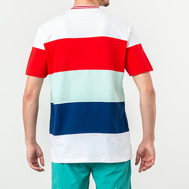 Aimé Leon Dore Striped Ribbed Collar Tee White, Multicolour
