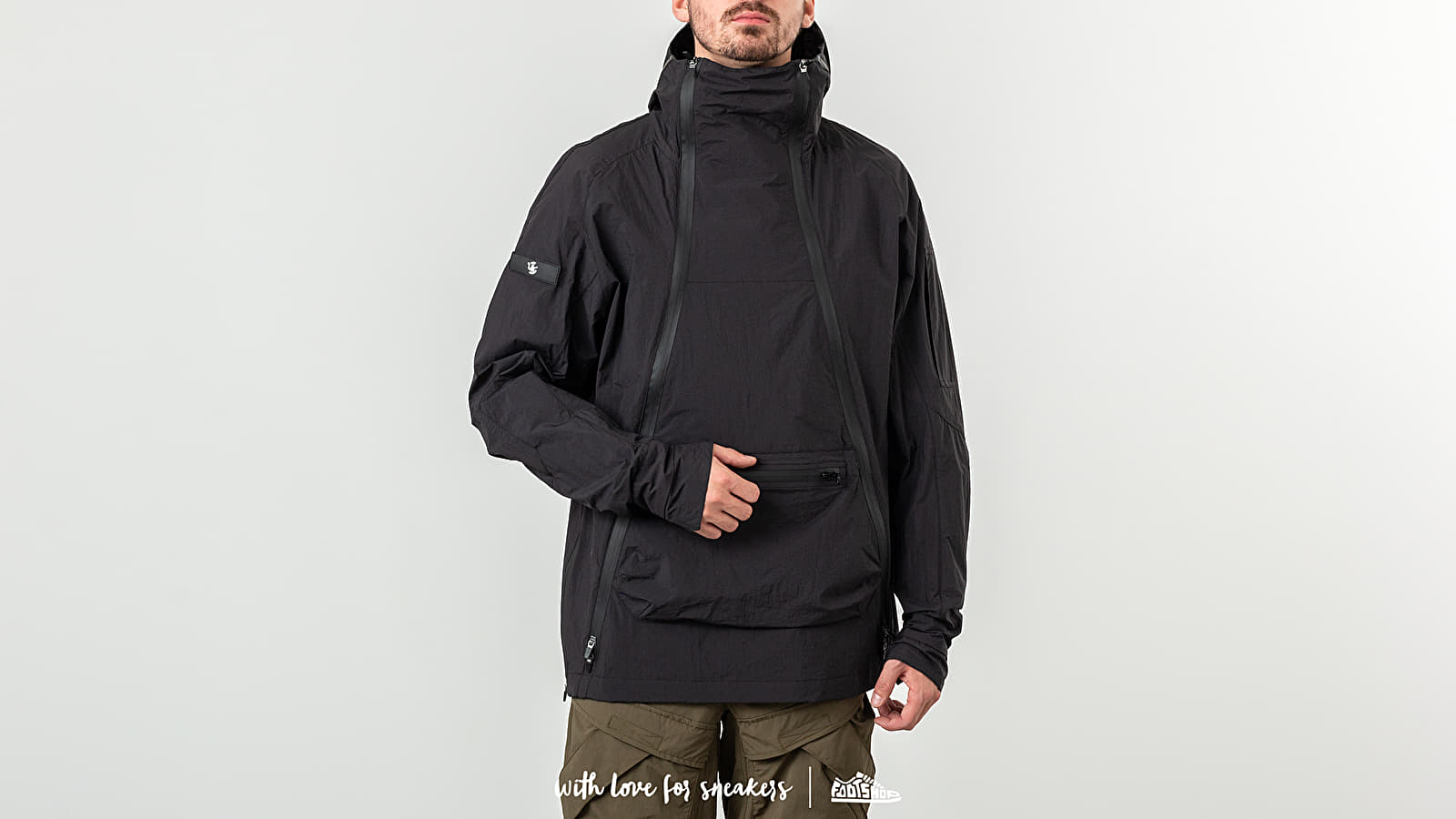 Riot Division Double Zipper Anorak Black at a great price 231 € buy at Footshop
