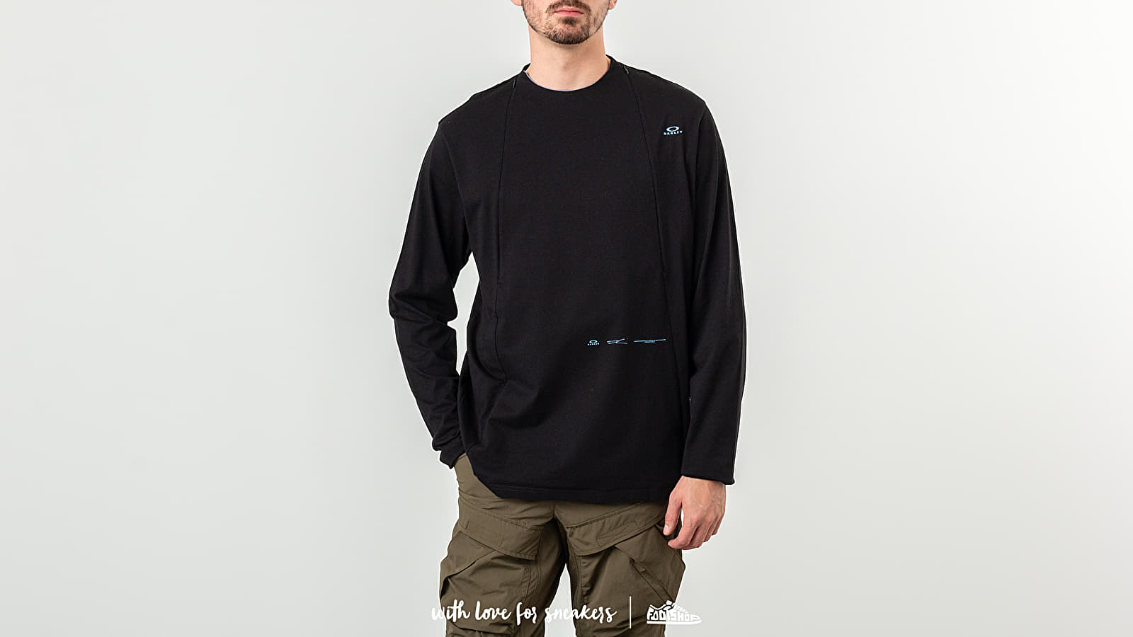 T-shirts Oakley Skydiver Zipped Long Sleeve Tee Blackout
