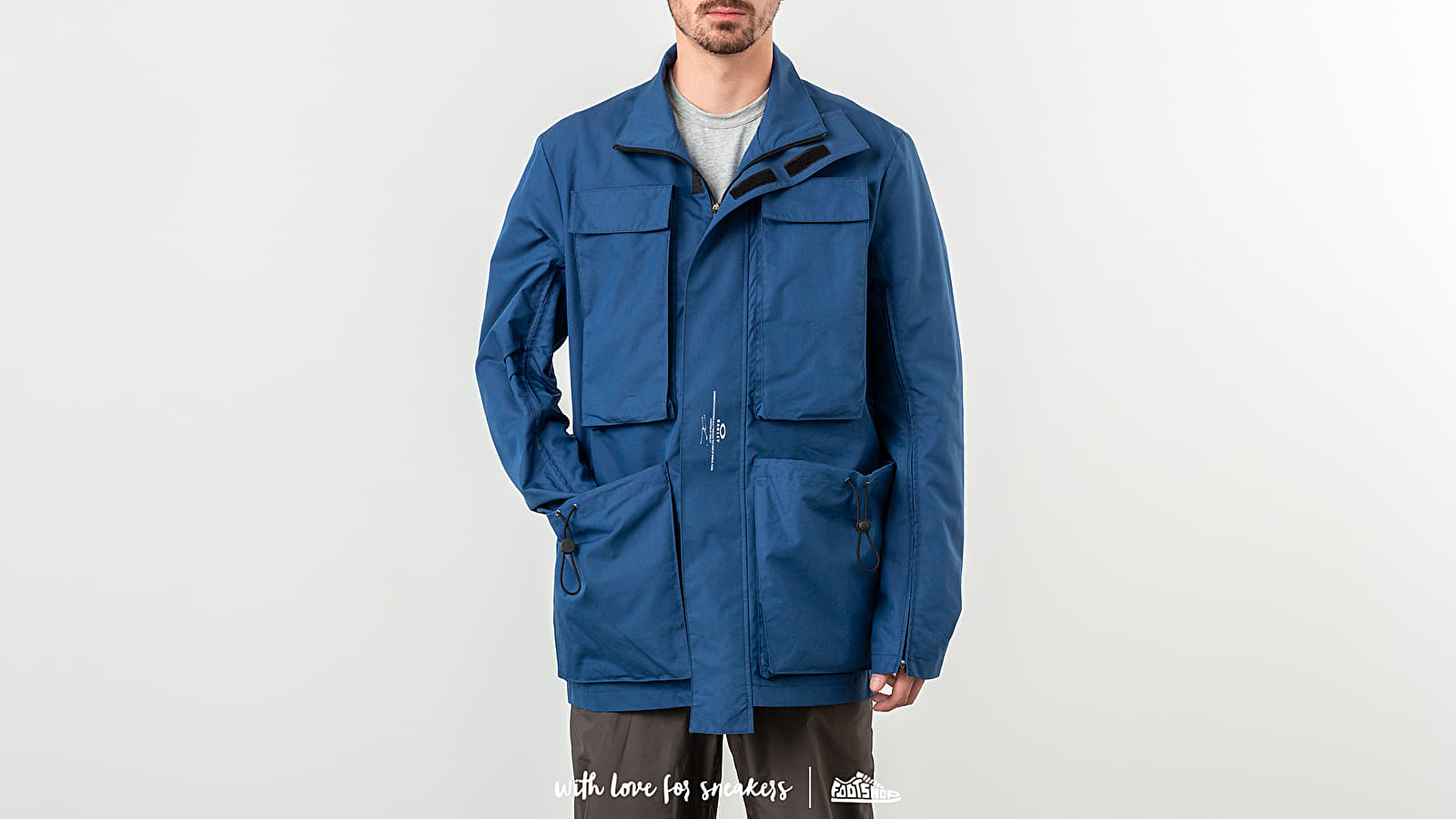 Bundy Oakley by Samuel Ross Skydiver Field Jacket Blue