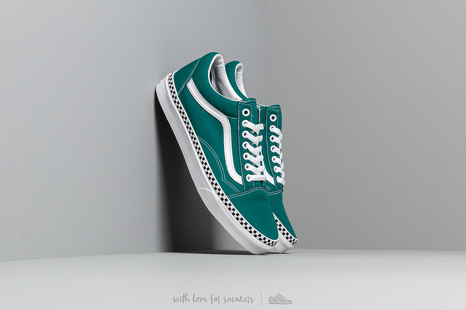 Vans Old Skool (Check Foxing) Quetzal Green | Footshop