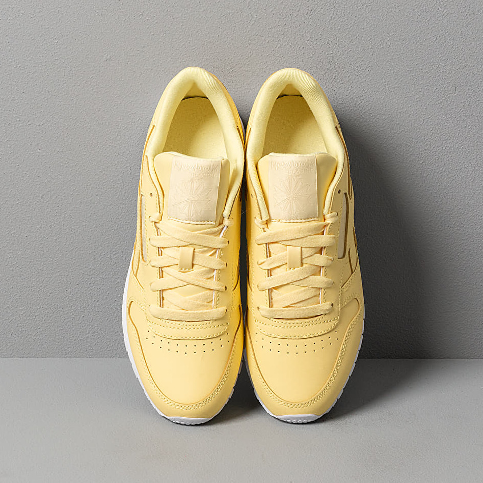 Reebok CL Leather Filtered Yellow/ White