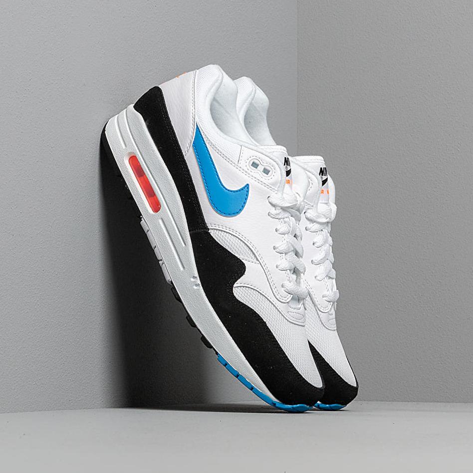 Nike Air Max 1 White/ Photo Blue-Total Orange-Black EUR 43