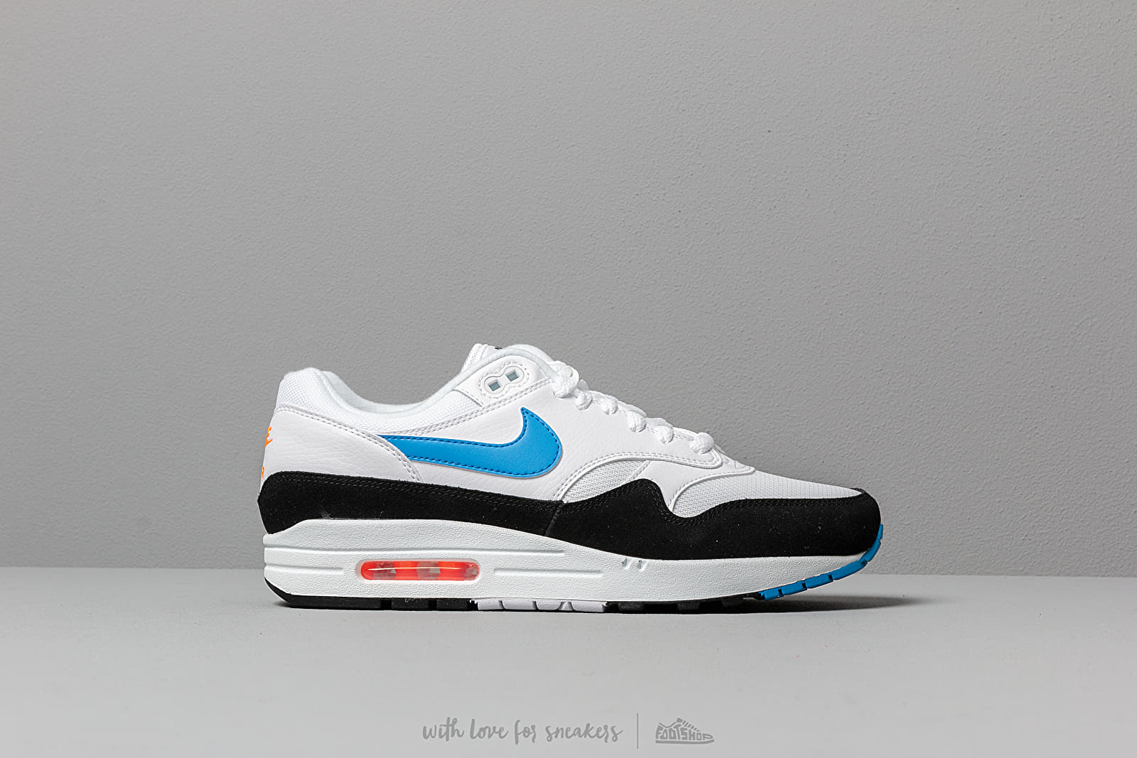 best authentic 1175e 362b1 Nike Air Max 1 White  Photo Blue-Total Orange-Black at a great