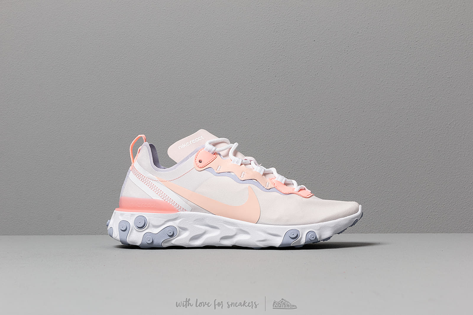 buy online 318c7 cdab2 Nike W React Element 55 Pale Pink  Washed Coral-Oxygen Purple at a great