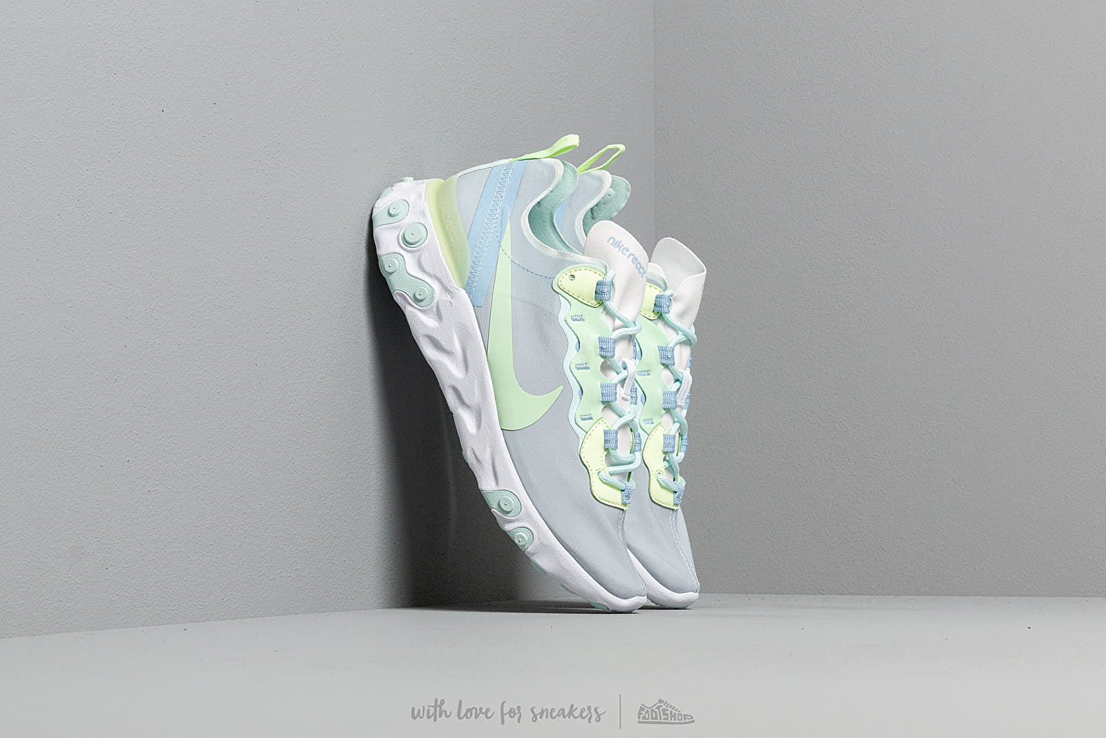 bb8a1e95a63e Nike W React Element 55 White  Frosted Spruce-Barely Volt at a great price