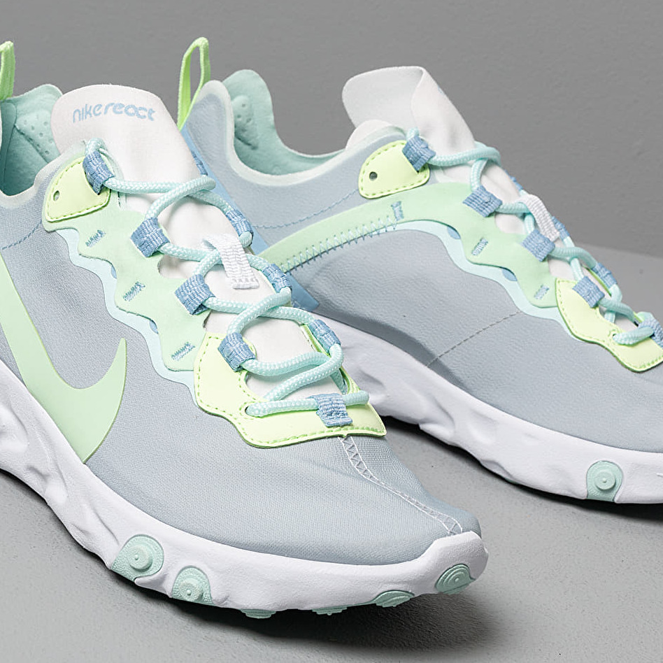 Nike W React Element 55 White/ Frosted Spruce-Barely Volt
