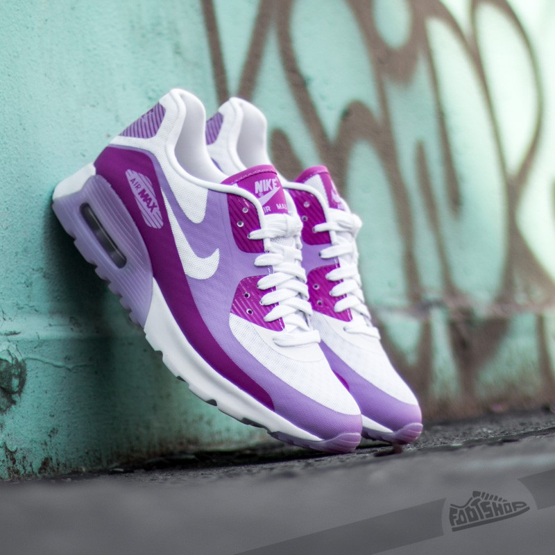 sports shoes e2e28 2994e W Nike Air Max 90 Ultra BR White Fuschia Glow-Fuchsia Flash