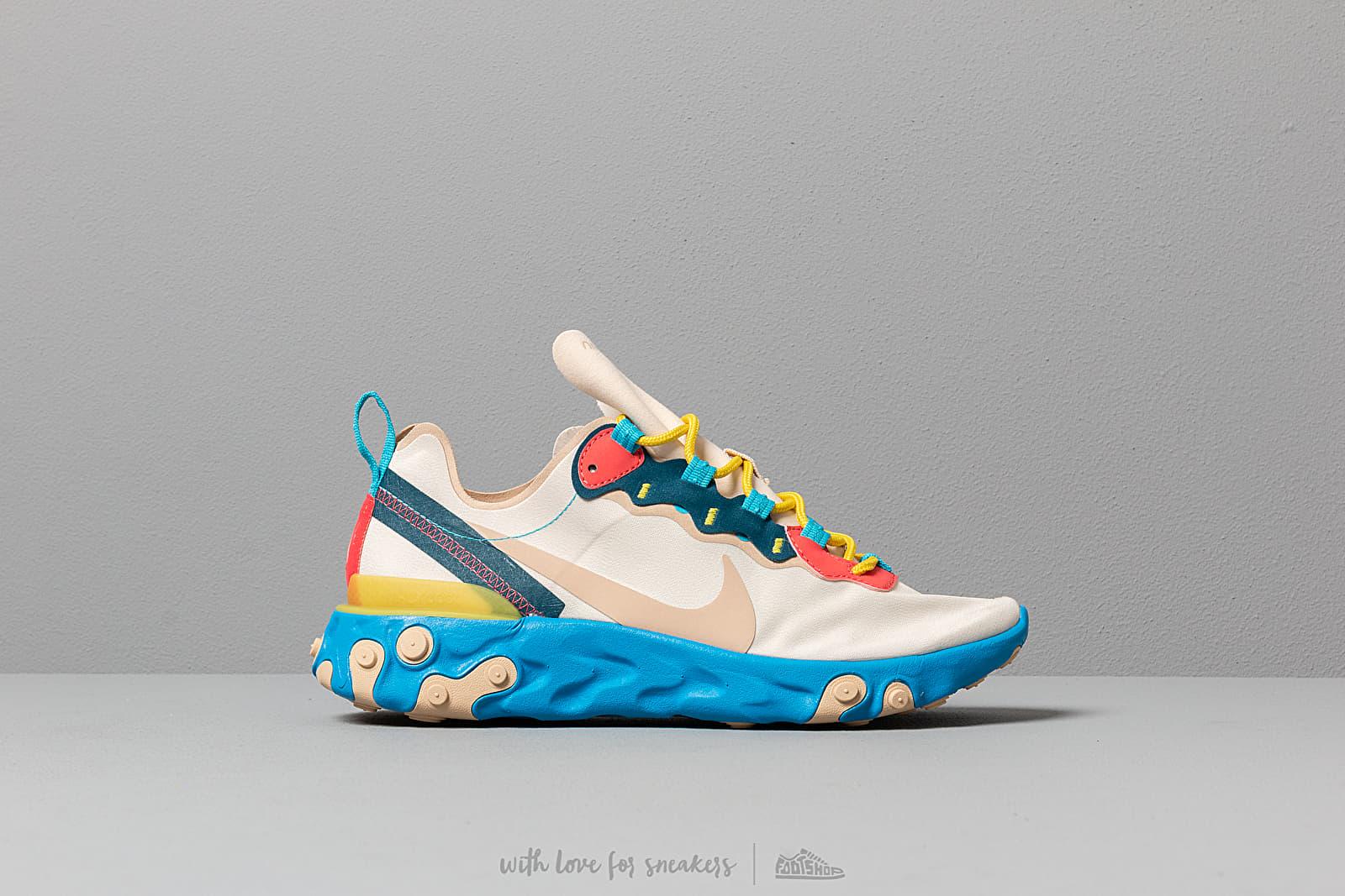 655becb45 Nike W React Element 55 Light Cream  Desert Ore-Lt Blue Fury at a