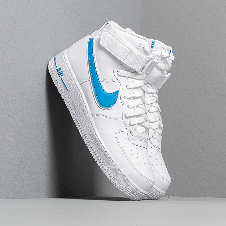 Nike Air Force 1 High '07 3 White/ White-Photo Blue EUR 46