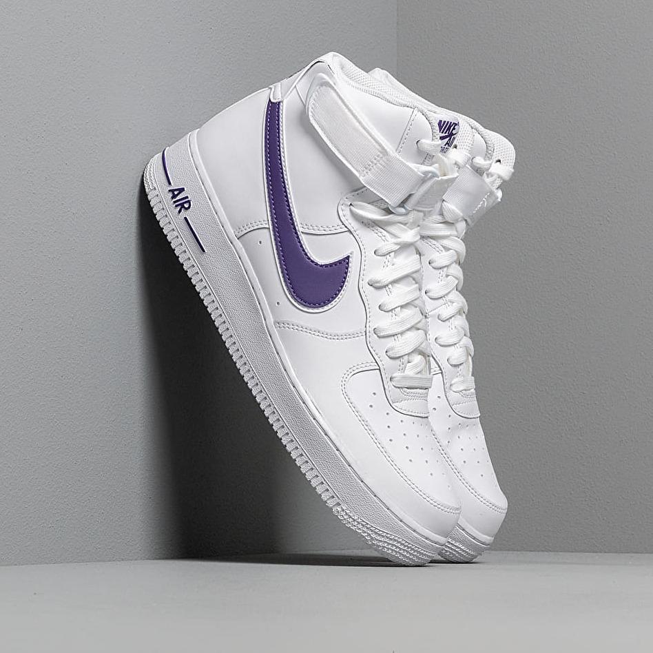 Nike Air Force 1 High '07 3 White/ White-Court Purple EUR 46