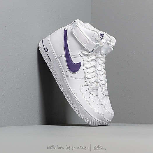 Nike Air Force 1 High '07 3 White White Court Purple | Footshop