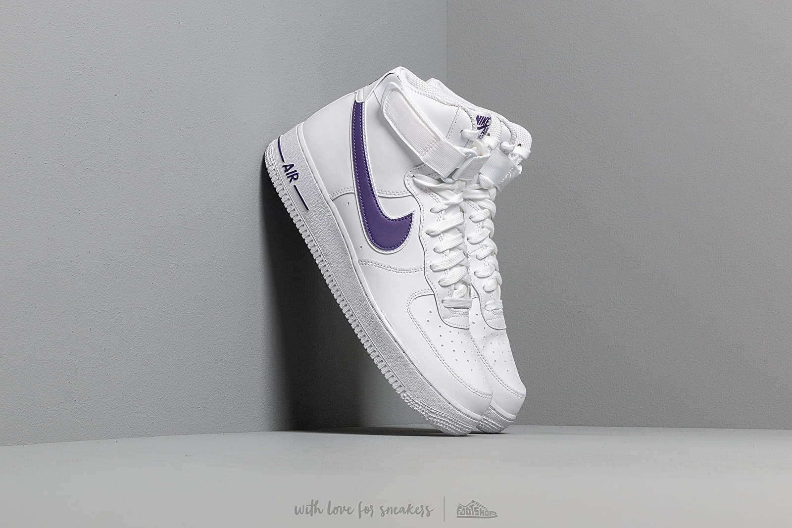 new product f0bed 0bd58 Nike Air Force 1 High  07 3 White  White-Court Purple at a
