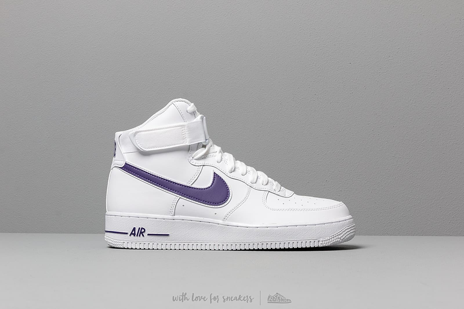 Nike Air Force 1 High '07 3 White White Court Purple | Footshop