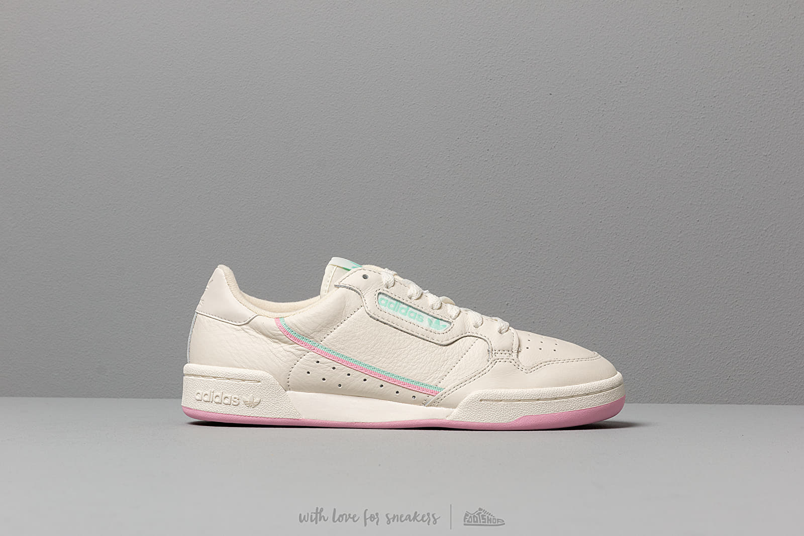adidas Continental 80 *Pastel Pack* (Off White True Pink Clear Mint)