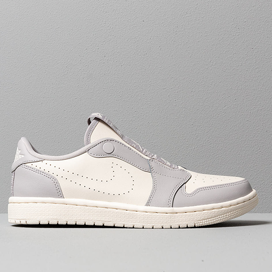 Air Jordan WMNS 1 Retro Low Slip Atmosphere Grey/ Pale Ivory-Pale Ivory, Gray