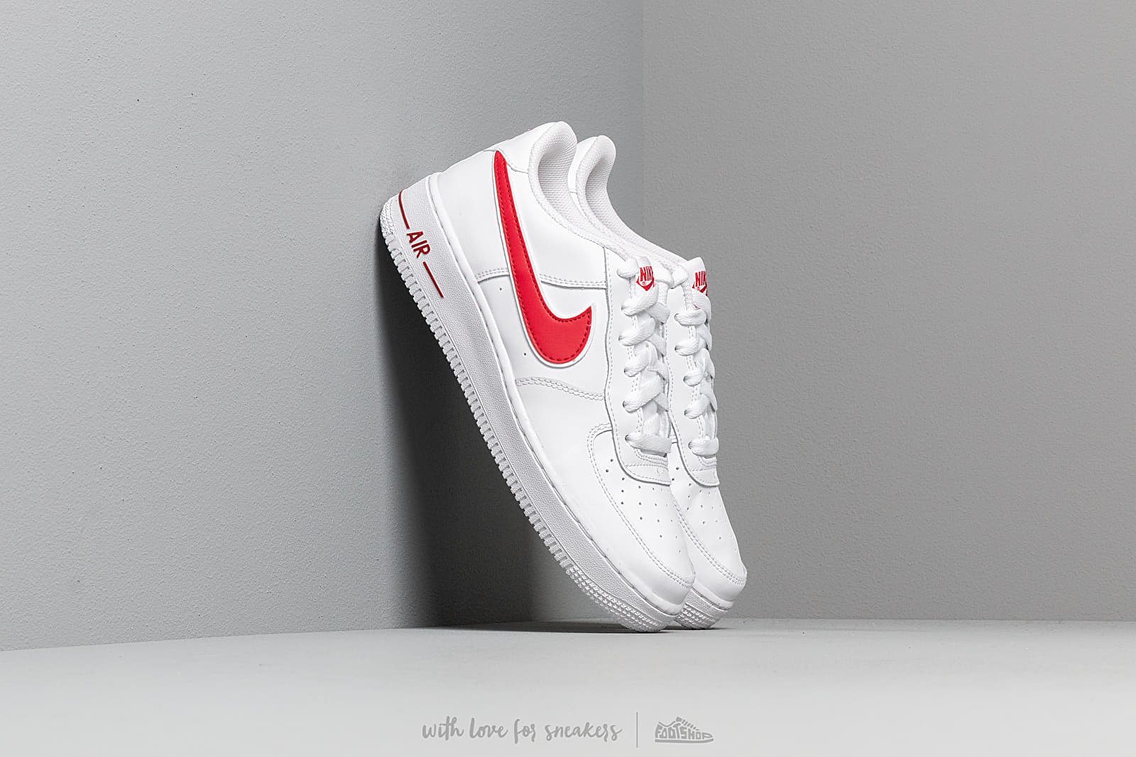 Nike Air Force 1 3 (GS) White Gym Red | Footshop