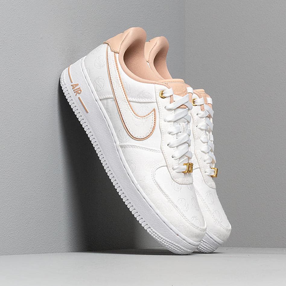 Nike Wmns Air Force 1 '07 Lx White/ Bio Beige-White-Metallic Gold EUR 40.5