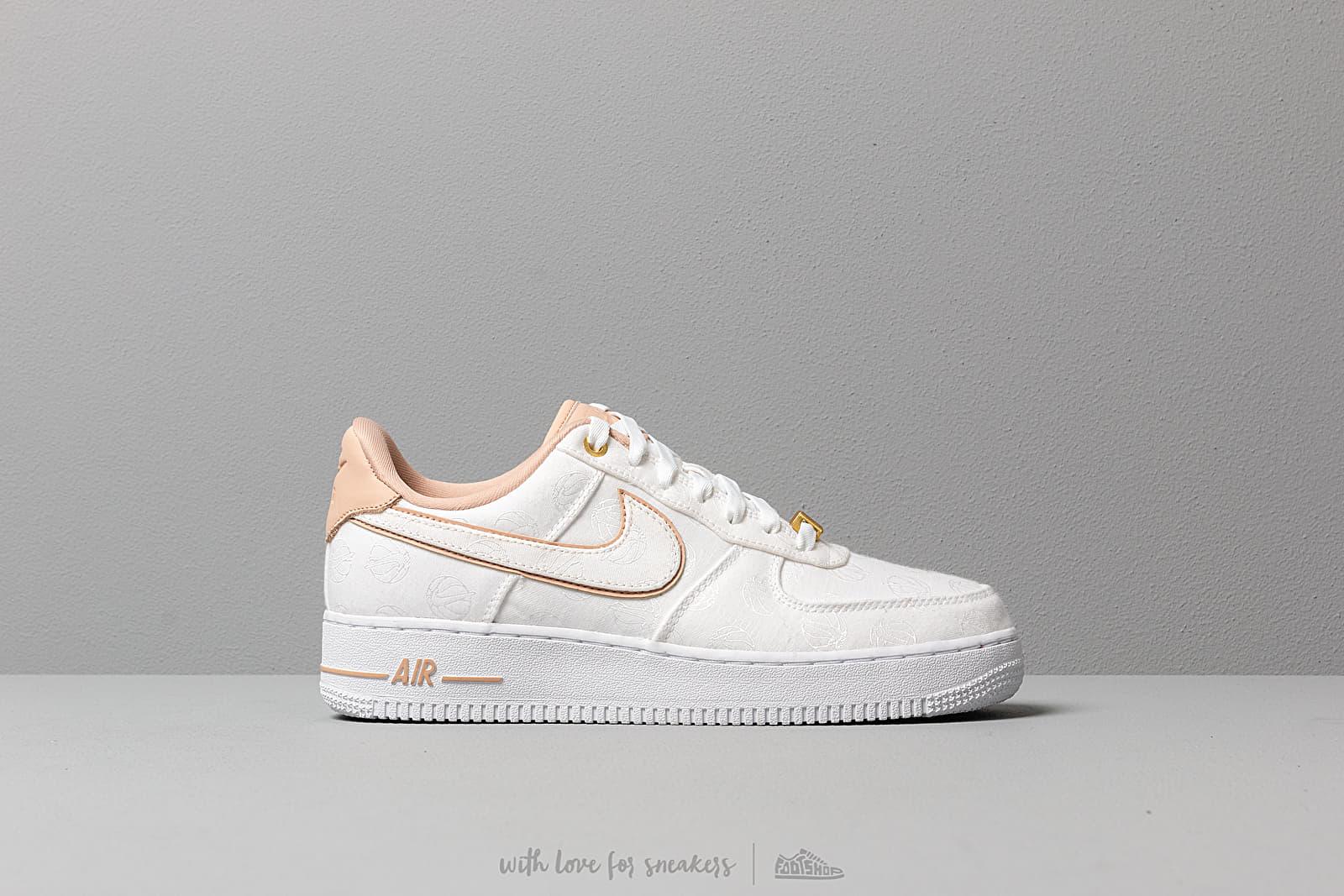 32f74c718a Nike Wmns Air Force 1 '07 Lx White/ Bio Beige-White-Metallic Gold ...